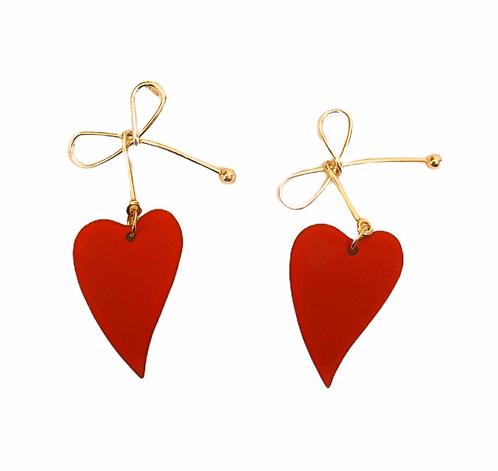 Boucles d'oreilles Noeud/coeur