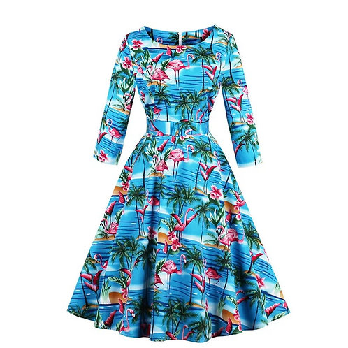 Robe tropicale - M