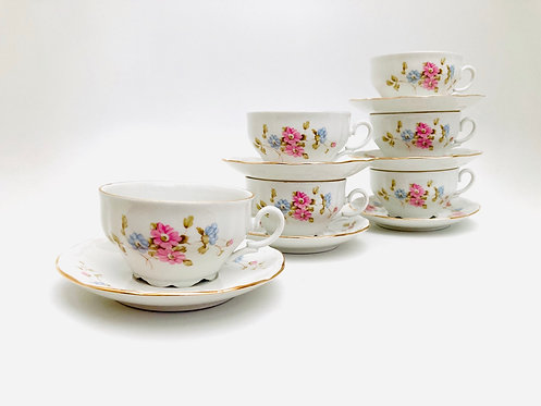 Ensemble tasses porcelaine Tognana