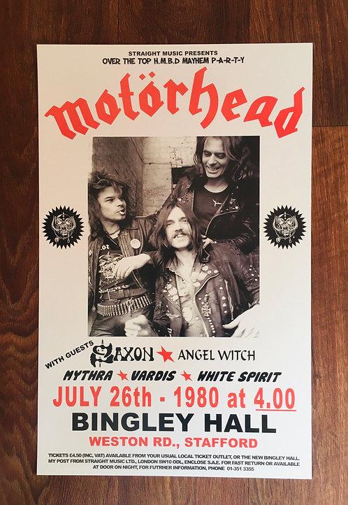 Affiche de concert Motorhead