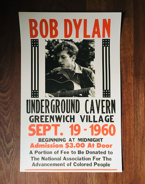 Affiche Bob Dylan 1960