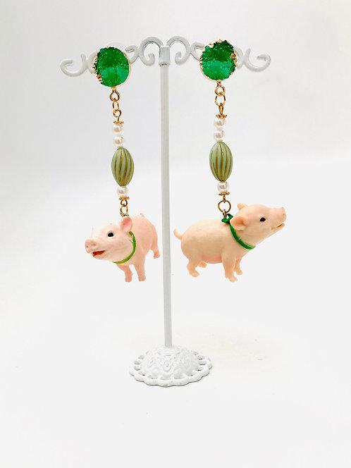 Boucles d'oreilles Cochon