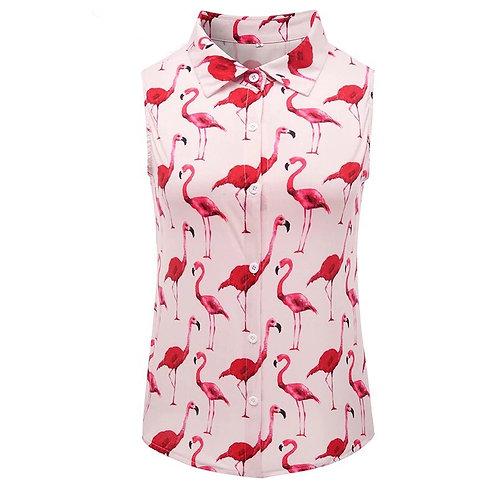 Chemisier sans manche Flamingo