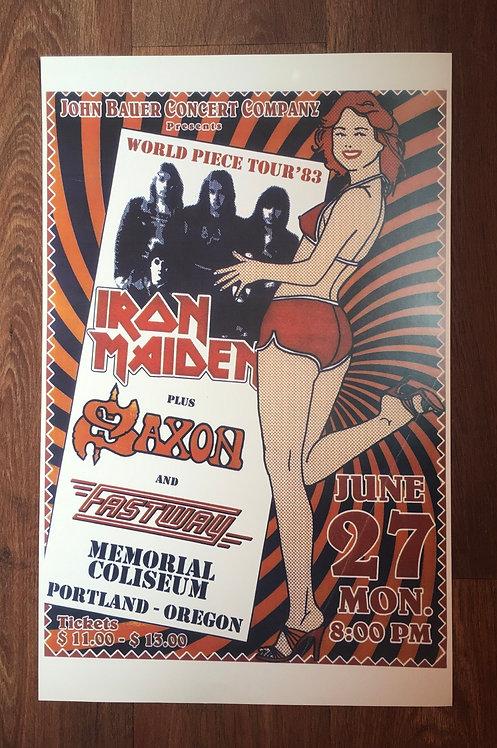 Affiche Iron Maiden 83