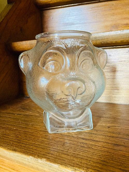 Boite tête d'ours en verre