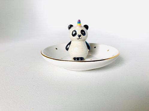 Coupelle rangement bijoux Panda Licorne