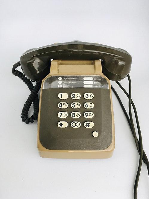 Téléphone rétro à touches Kaki