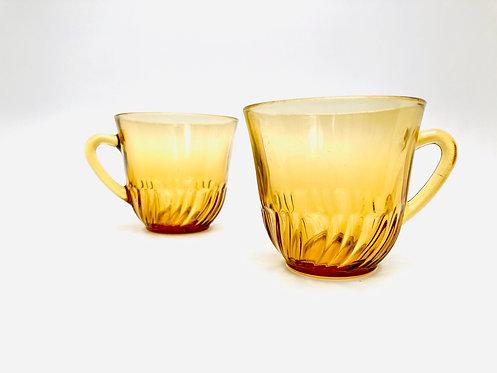 Tête à tête Tasses ambrées
