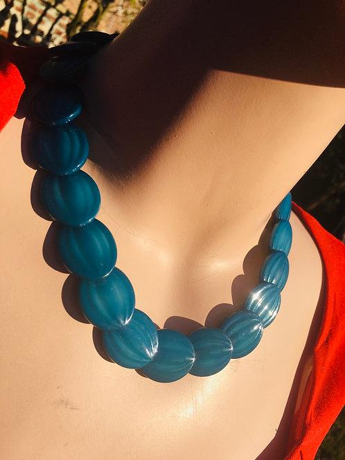 Collier vintage bleu