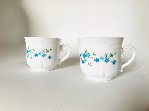 Duo Très grandes tasses arcopal myosotis Veronica