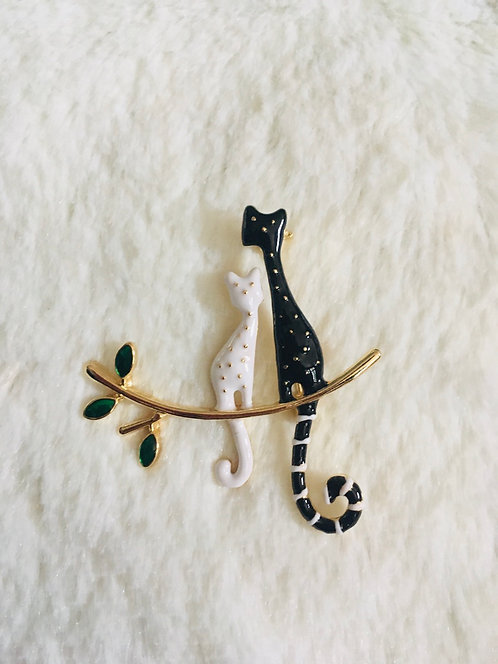 Broche Chats amoureux