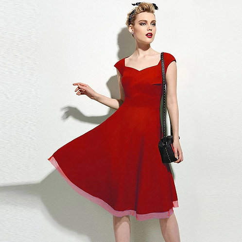 Robe pin-up Rouge