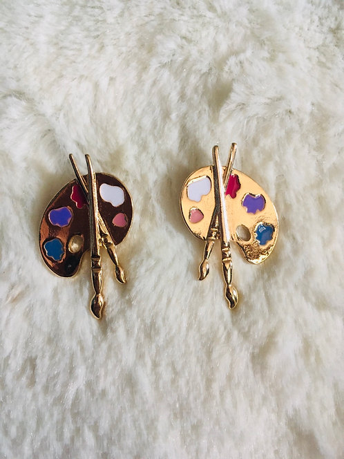 Boucles d'oreilles Peinture