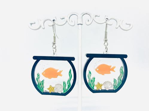 Boucles d'oreilles Aquarium