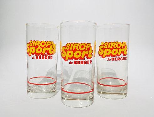 Trio verres Sirop Sport Berger