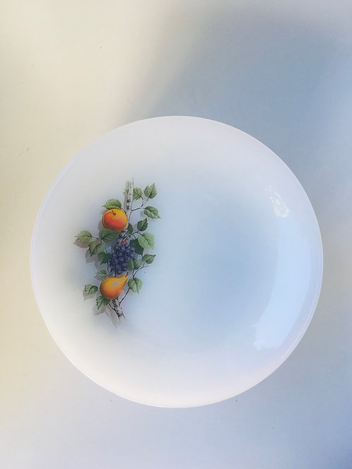 6 assiettes à dessert Arcopal Fruits de Frznce