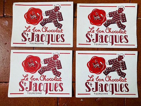 Buvard Le bon Chocolat St Jacques