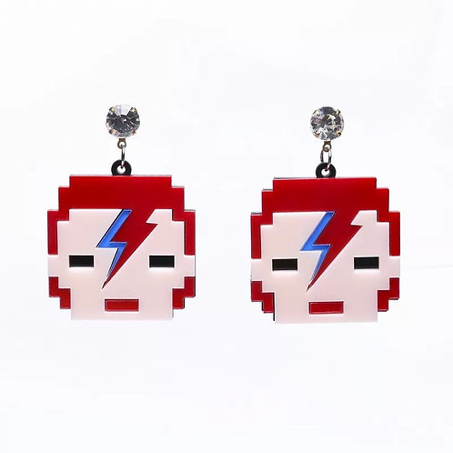 Boucles d'oreilles David Bowie