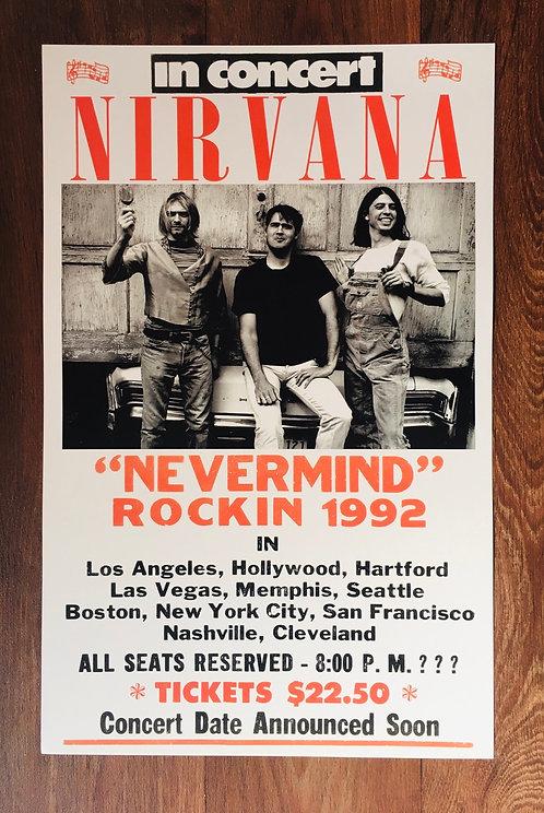 Affiche de concert Nirvana