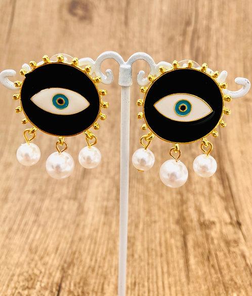 Boucles d'oreilles yeux