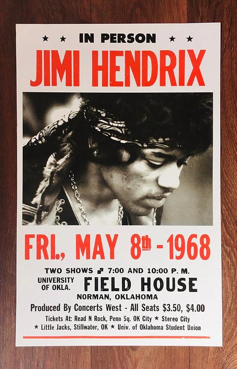 Affiche Jimi Hendrix 1968