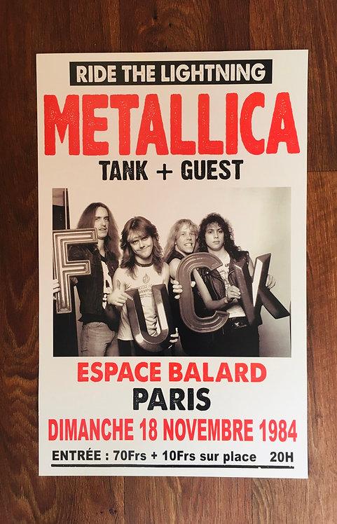 Affiche de concert Metallica