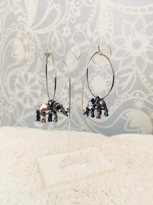 Boucles d'oreilles Éléphants