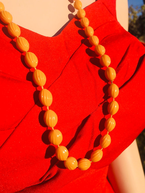 Collier vintage orange