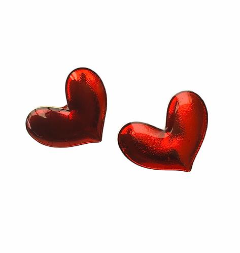 Boucles d'oreilles Coeur rouge