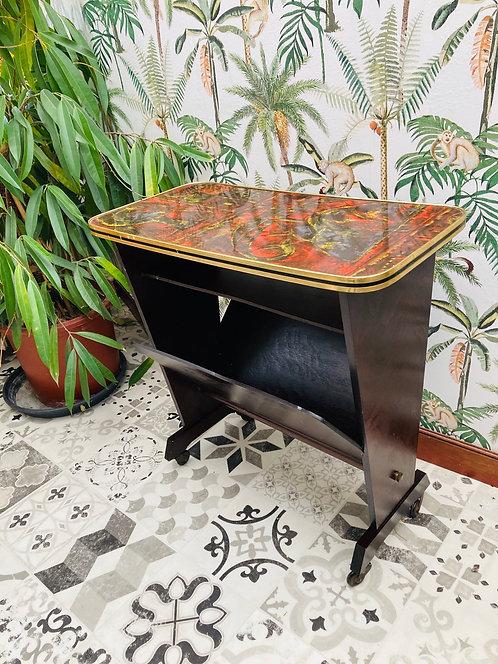 Porte-revue table d'appoint vintage