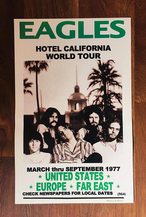 Affiche de concert Eagles 1977
