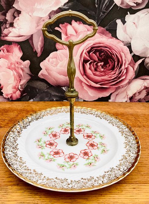 Plateau porcelaine vintage romantique