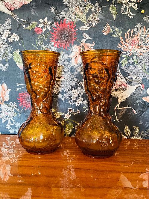Vase marron vintage