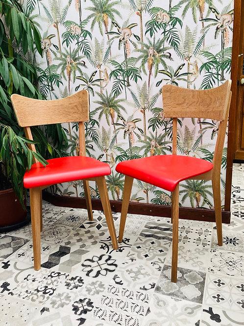 Paire de chaises vintage scandinave