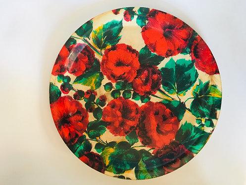 Plateau Fleurs Roses