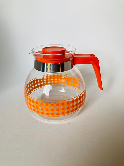 Cafetière orange vintage
