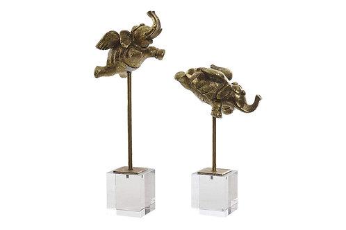 Éléphants H38cm