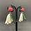 Thumbnail: Boucles d'oreilles Tulipes blanches