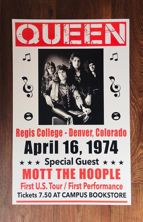 Affiche Queen 1974