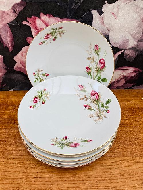 6 assiettes creuses porcelaine Bavaria Roses