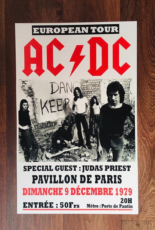 Affiche de concert AC/DC