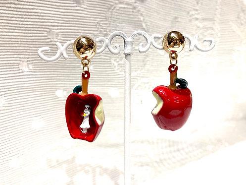 Boucles d'oreilles Blanche-Neige Pomme