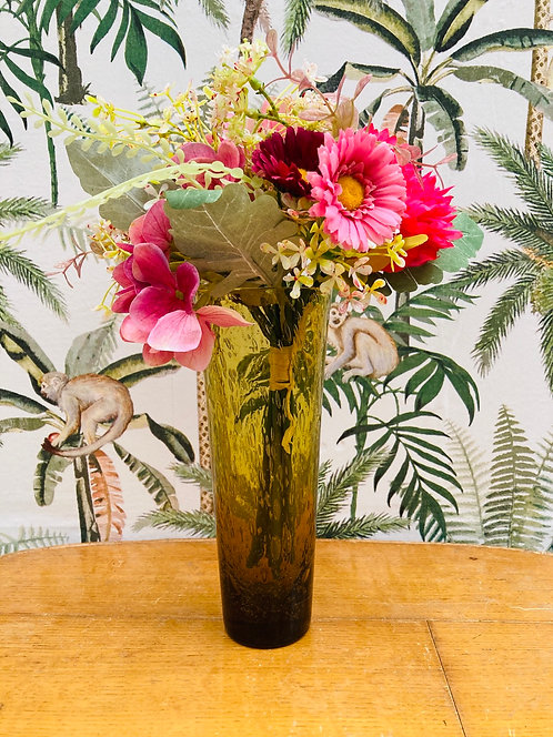 Vase verre soufflé vintage