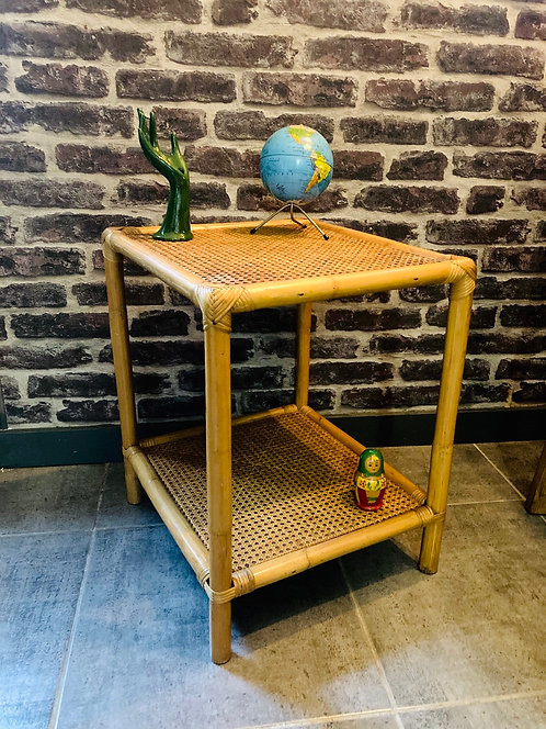 Table d'appoint rotin canage
