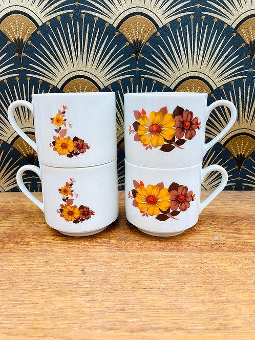 Tasses motif floral Bavaria