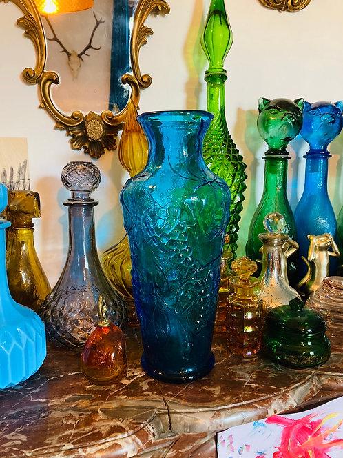 Grand vase bleu italien