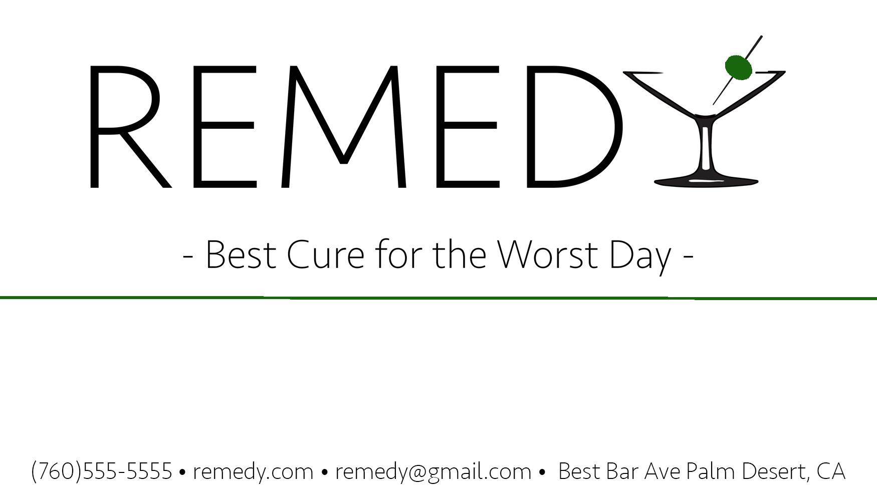 Remedybusinesscard