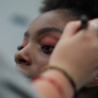 Shooting école IFA agence yuzu défilé mode mannequin coiffure maquillage
