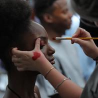 Shooting école IFA agence yuzu défilé mode créateur maquillage coiffure