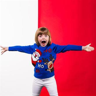 Kids Ho Ho Ho Christmas Jumper